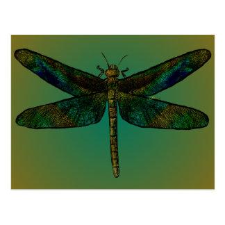 Carte postale de crépuscule d'aile de septembre