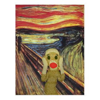Carte postale de cri perçant de singe de