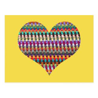 Carte postale de crochet - carte postale de coeur