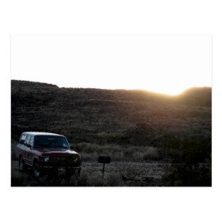 Carte postale de croiseur de terre de Toyota
