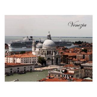 Carte postale de croisière de salut de Venise