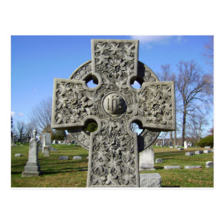 carte postale de croix celtique