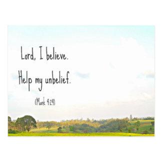 Carte postale de croyance
