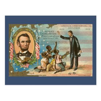 Carte postale de cru d'Abraham Lincoln