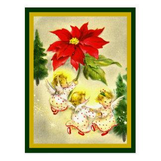 Carte postale de cru d'anges de bébé de danse