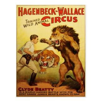 Carte postale de cru de cirque de Hagenbeck