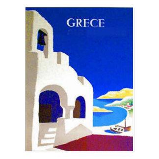 carte postale de cru de grece