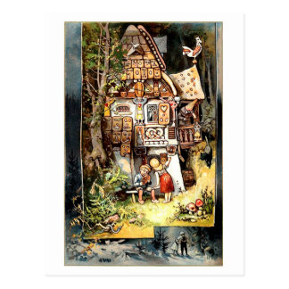 Carte postale de cru de Hansel et de Gretel