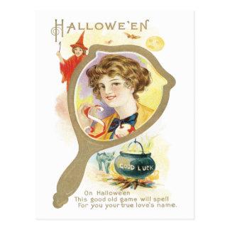Carte postale de cru de miroir de bonne chance