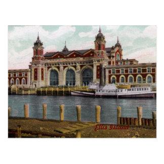 Carte postale de cru d'île d'Ellis