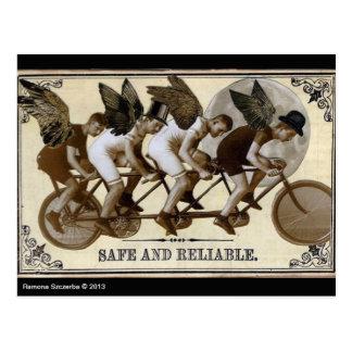 Carte postale de cyclistes de Steampunk