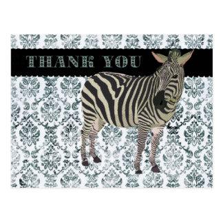 Carte postale de damassé de Merci de Zeb
