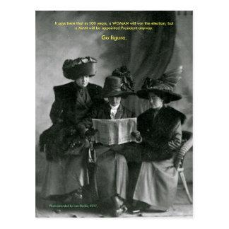 Carte postale de dames de résistance
