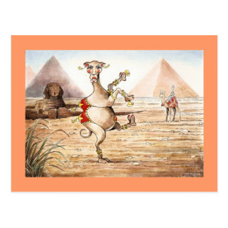 Carte postale de danse de chameau