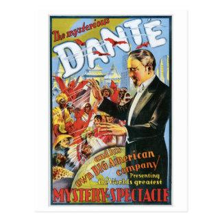 Carte Postale ~ de Dante la Loi magique vintage de magicien