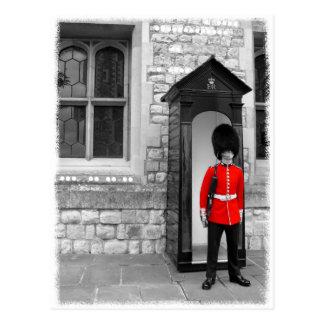 Carte postale de défilé de soldat de Londres