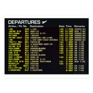 Carte postale de départs d'aéroport