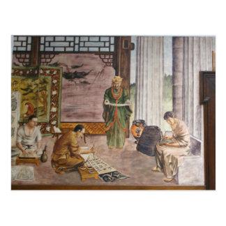 Carte postale de ~ des peintures murales 3 de WPA