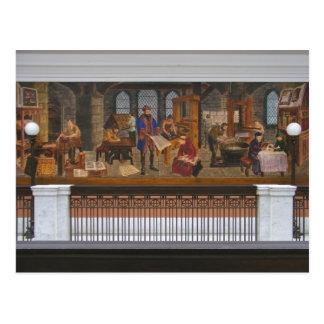 Carte postale de ~ des peintures murales 5 de WPA