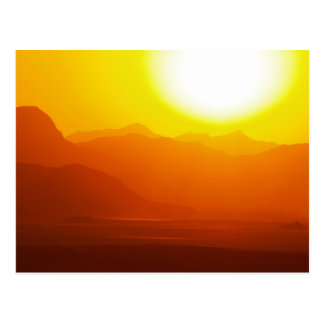 Carte postale de désert de rhum de la Jordanie