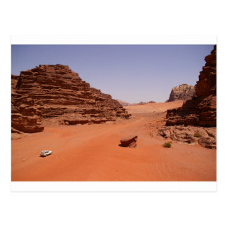 Carte postale de désert de rhum de Wadi
