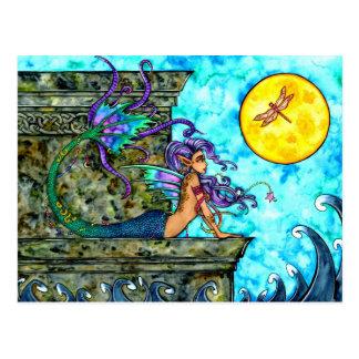 Carte postale de désir ardent de sirène