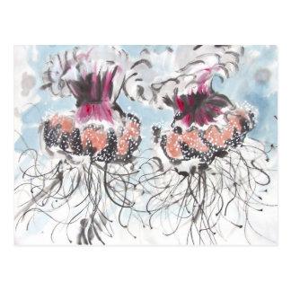 Carte postale de détail de méduses de Cephea