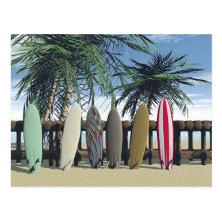 Carte postale de détente de surf