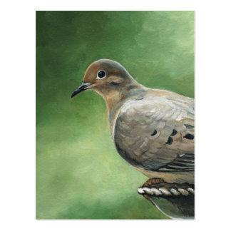 Carte postale de deuil d'art d'oiseau de colombe