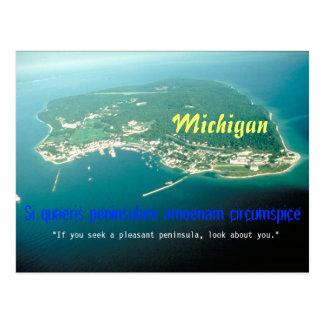 Carte postale de devise d'État du Michigan