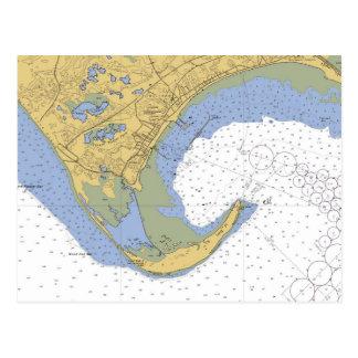 Carte postale de diagramme de port de Provincetown
