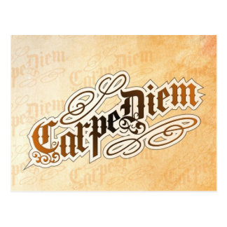 carte postale de diem de carpe