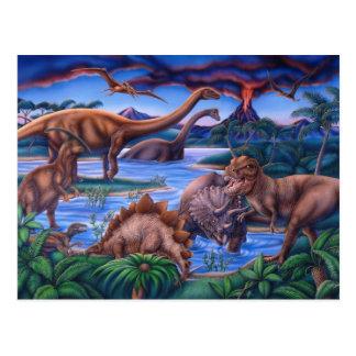 Carte postale de dinosaures