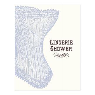 Carte postale de douche de lingerie