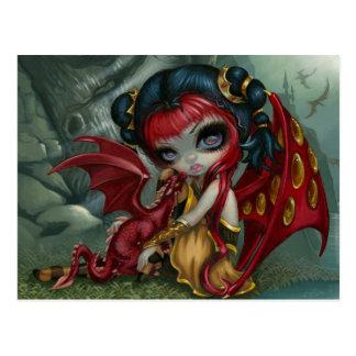 """Carte postale """"de Dragonling ambre"""""""
