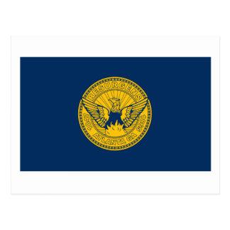 Carte postale de drapeau d'Atlanta