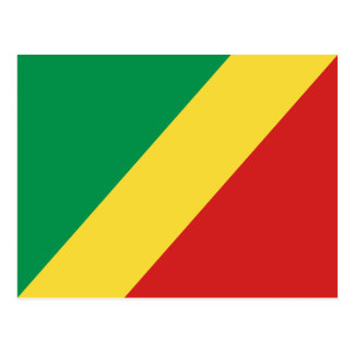 Carte postale de drapeau de Congo-Brazzaville