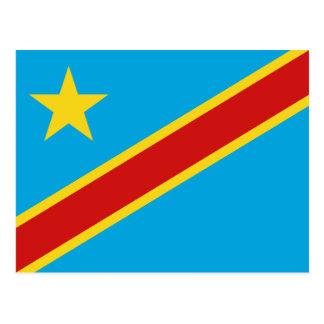 Carte postale de drapeau de Congo-Kinshasa