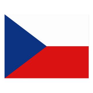 Carte postale de drapeau de Czechia