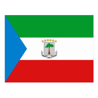 Carte postale de drapeau de Guinée équatoriale
