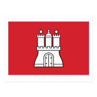 Carte postale de drapeau de Hambourg