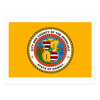 Carte postale de drapeau de Honolulu