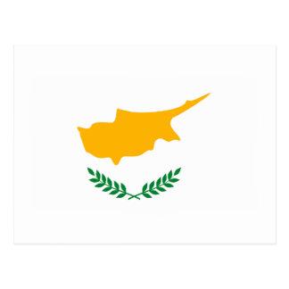 Carte postale de drapeau de la Chypre