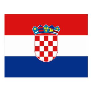 Carte postale de drapeau de la Croatie