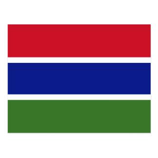Carte postale de drapeau de la Gambie