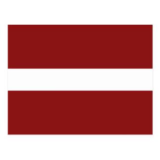 Carte postale de drapeau de la Lettonie