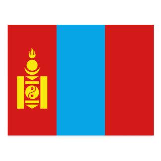 Carte postale de drapeau de la Mongolie