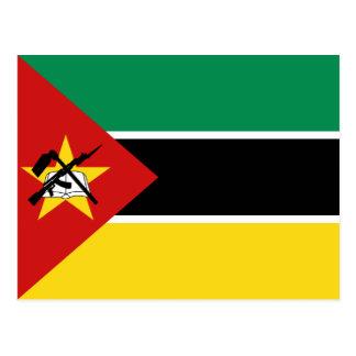 Carte postale de drapeau de la Mozambique