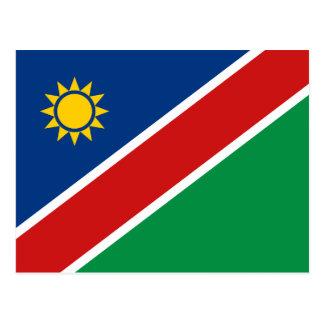 Carte postale de drapeau de la Namibie