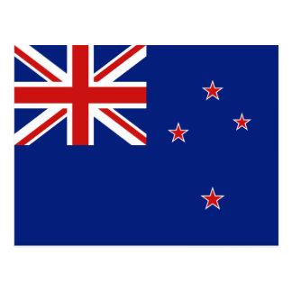 Carte postale de drapeau de la Nouvelle Zélande